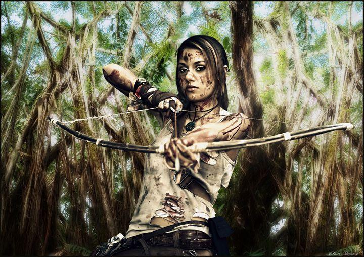 Tomb Raider Base Camp Hunting - Art by Arthur Ramsey