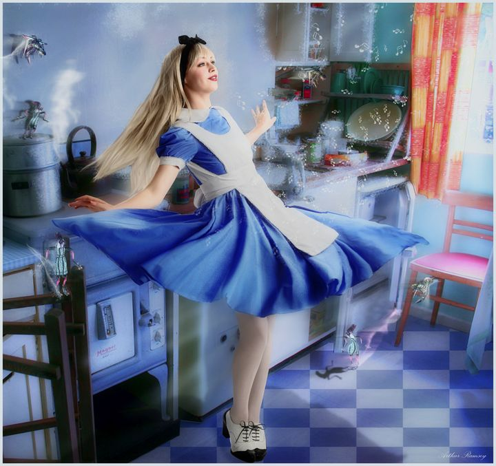 Alice and the Frenzied Kitchen Bugs - Art by Arthur Ramsey