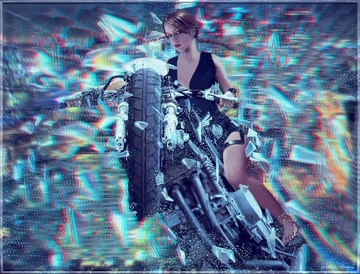 3d Biker Lara Croft - Art by Arthur Ramsey