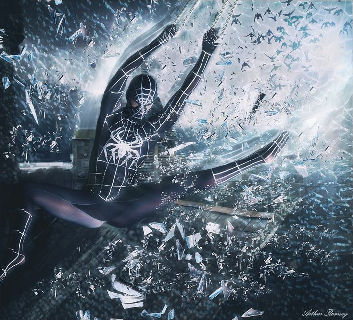 Spider Women Brand Raid - Art by Arthur Ramsey