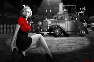 Sin City Bootlegger - Art by Arthur Ramsey