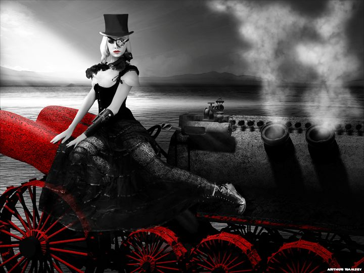 Sin City Steampunk Dragster - Art by Arthur Ramsey