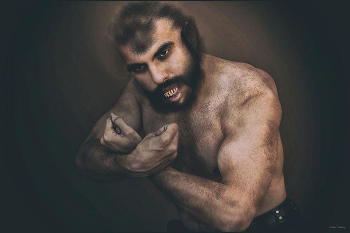 Portrait of a Werewolf Morphing - Art by Arthur Ramsey