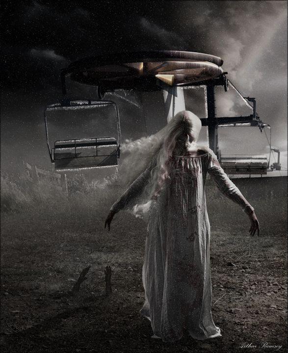 Cold Zombie Night - Art by Arthur Ramsey