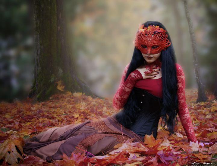 Lady Autumn - Art by Arthur Ramsey