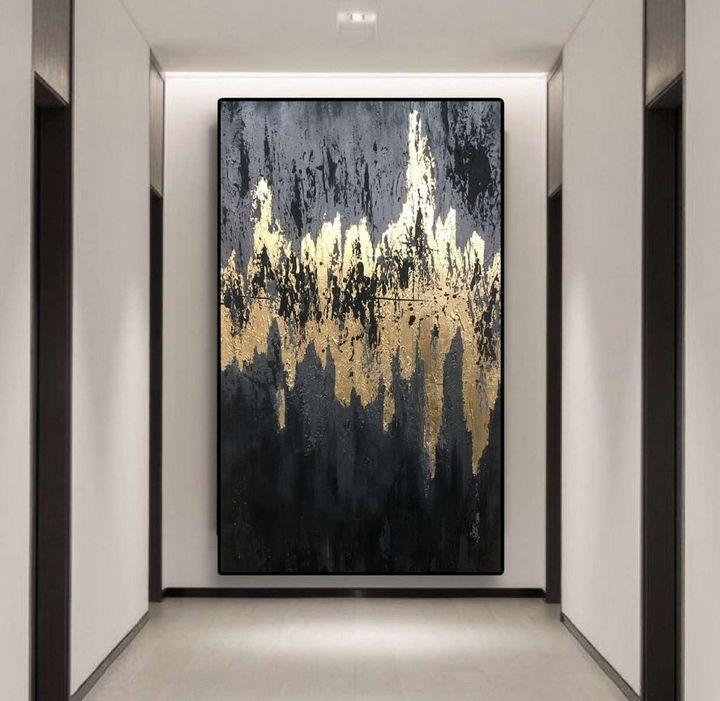 Abstraction in dark - ART INTERIOR