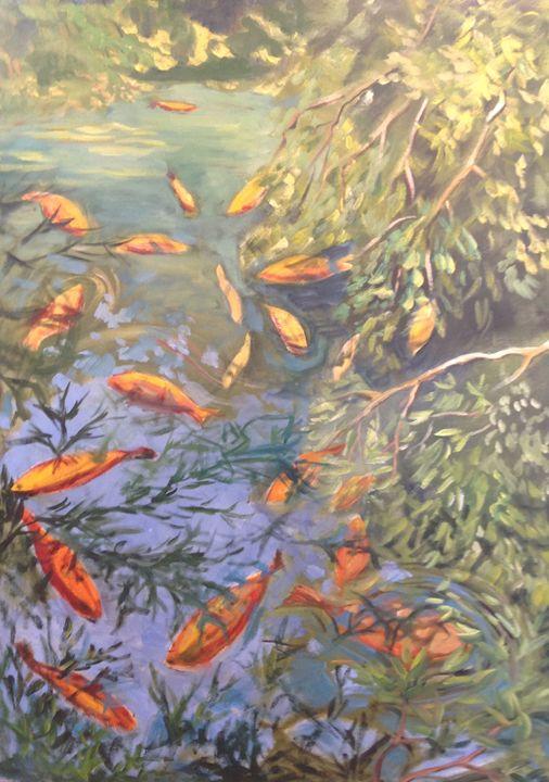 Gold Fish Pond - Genia Neuschatz