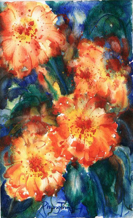 ZINNIA SONATA (3) - Phong Trinh Watercolor