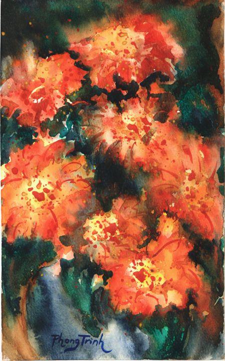ZINNIA SONATA (4) - Phong Trinh Watercolor