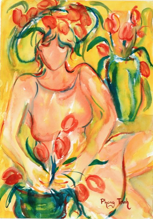 THE TULIP GROWER - Phong Trinh Watercolor