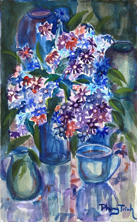BLUES - Phong Trinh Watercolor
