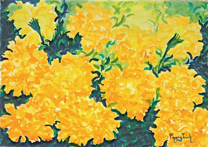 MARIGOLDS - Phong Trinh Watercolor