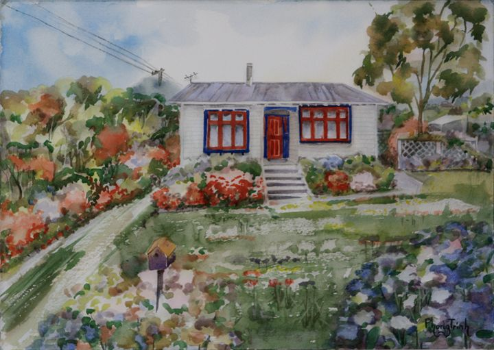 RURAL COTTAGE, NZ - Phong Trinh Watercolor