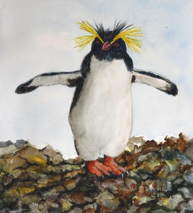 ROCKHOPPER PENGUIN - Phong Trinh Watercolor