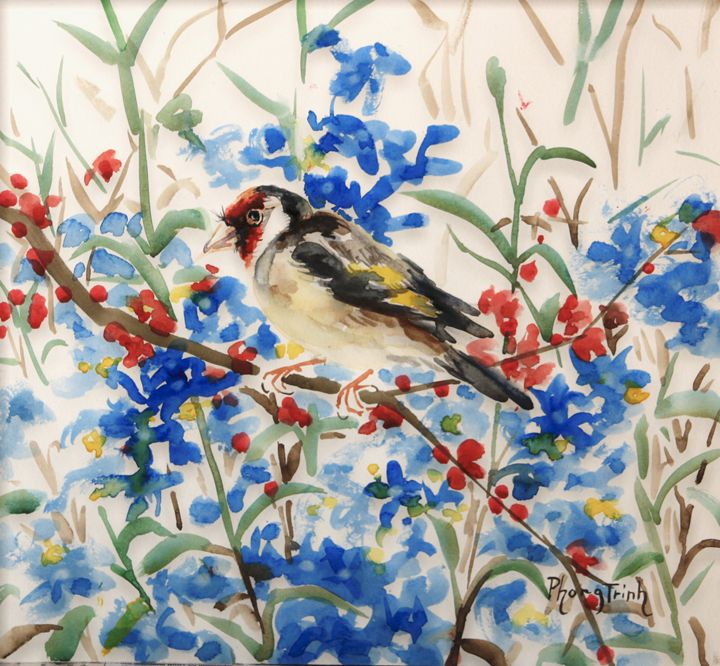 Goldfinch - Phong Trinh Watercolor