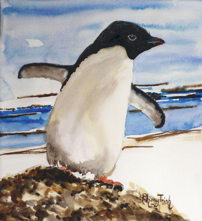 Adélie Penguin - Phong Trinh Watercolor
