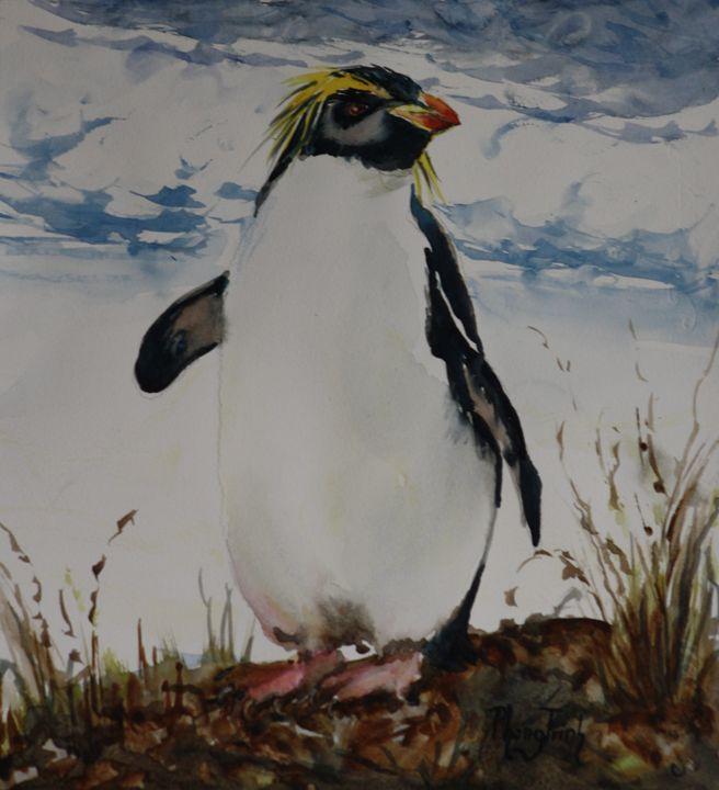 Fiordland Penguin - Phong Trinh Watercolor