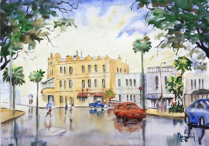 SUNSHOWER DEVONPORT, AUCKLAND - Phong Trinh Watercolor