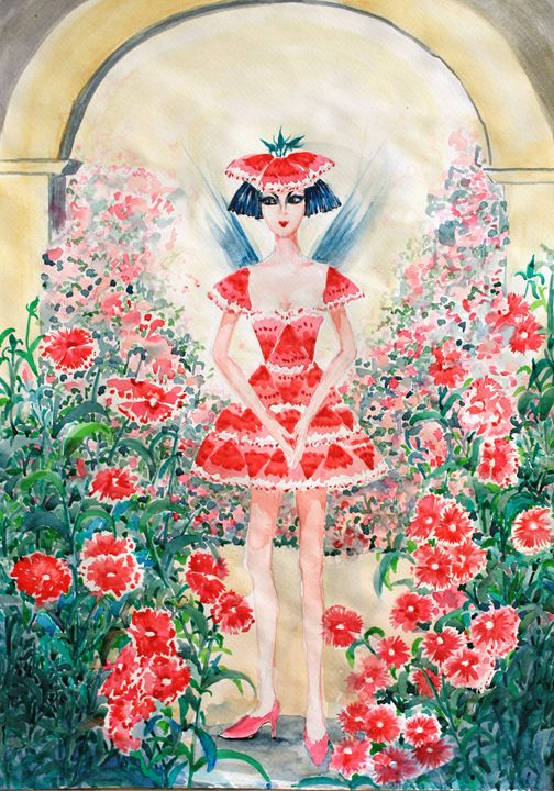 SWEET WILLIAM FAIRY - Phong Trinh Watercolor