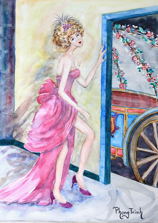THE PRINCESS and HER CARRIAGE - Phong Trinh Watercolor