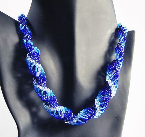 """Shades of Twisted Blue"" - Handcrafted Jewelry by Patricia Bowe Designs"