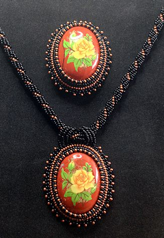 """""""Yellow Roses"""" - Handcrafted Jewelry by Patricia Bowe Designs"""