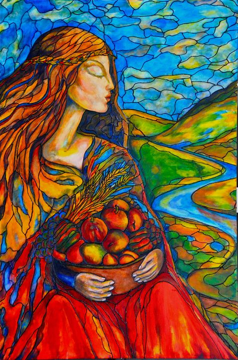 Fruits of Labor (Virgo) - Art by Rae Chichilnitsky