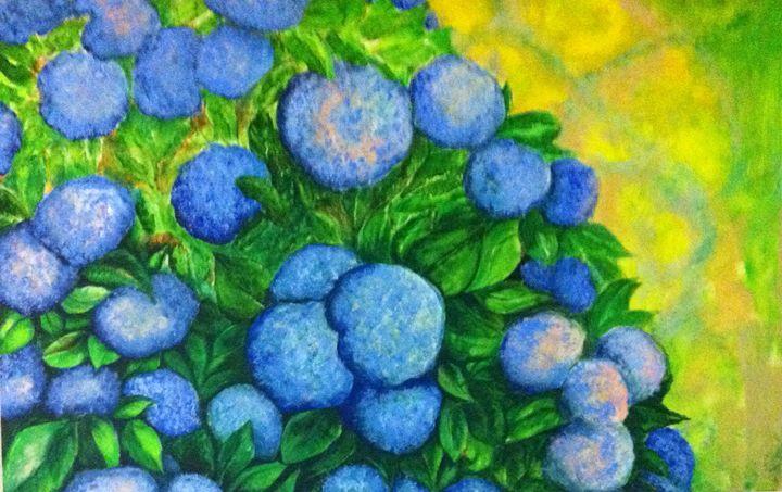 Blue Bush - Art by Rae Chichilnitsky