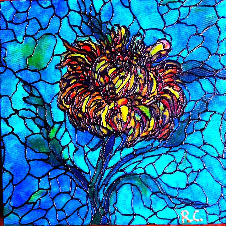 Yellow Chrysanthemum - Art by Rae Chichilnitsky