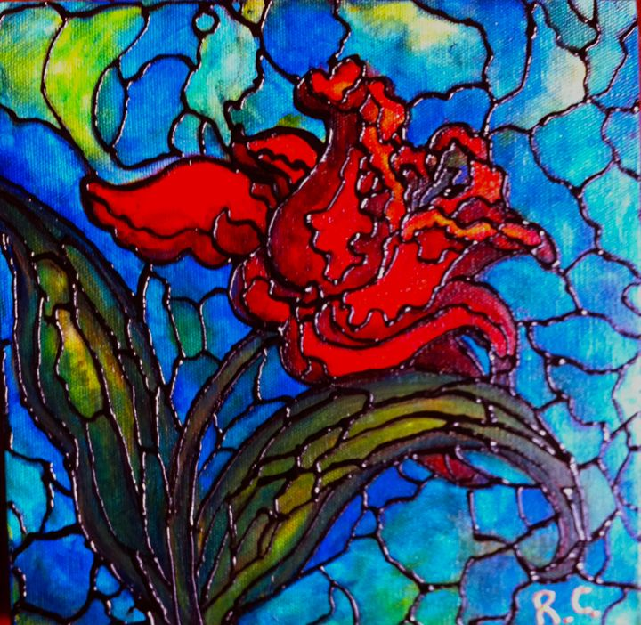 Red Tulip - Art by Rae Chichilnitsky