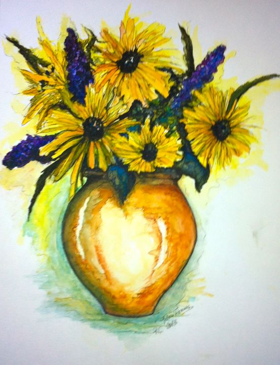 Yellow Daisies - Art by Rae Chichilnitsky