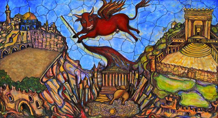 Red Cow - Art by Rae Chichilnitsky