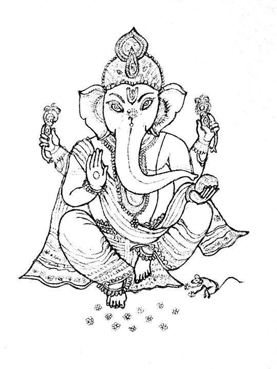 Lord Ganesha - Pencil Sketches Vasini