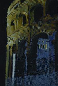 Amphitheatre at night