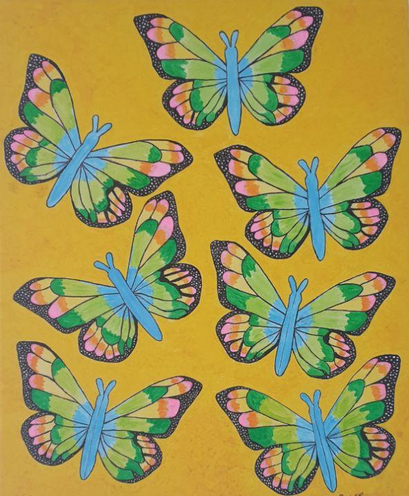 Rainbow butterflies - Andra Larisa Abstract Art