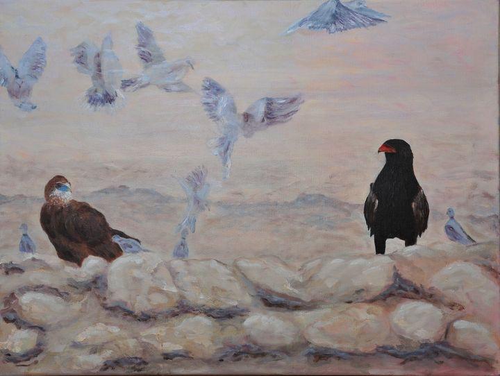 Botswana Kgalagadi - Bataleurs - Suzanne Leighton