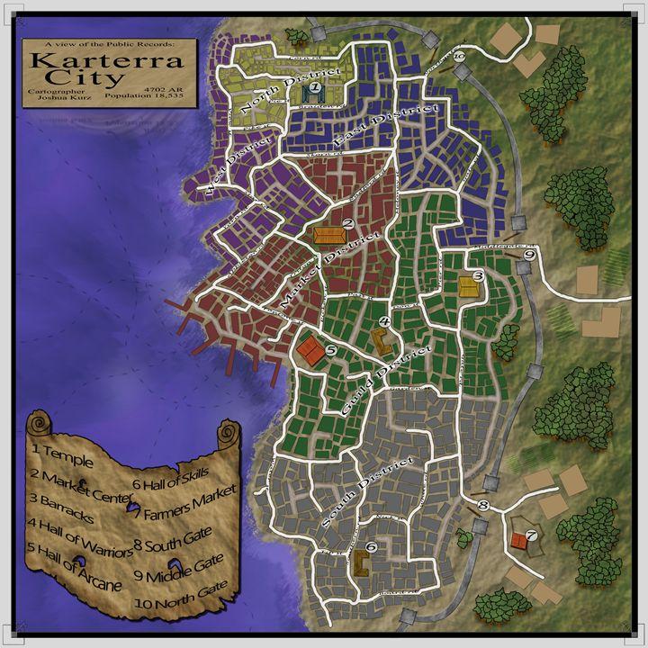 Fantasy City Karterra - Joshua C Kurz