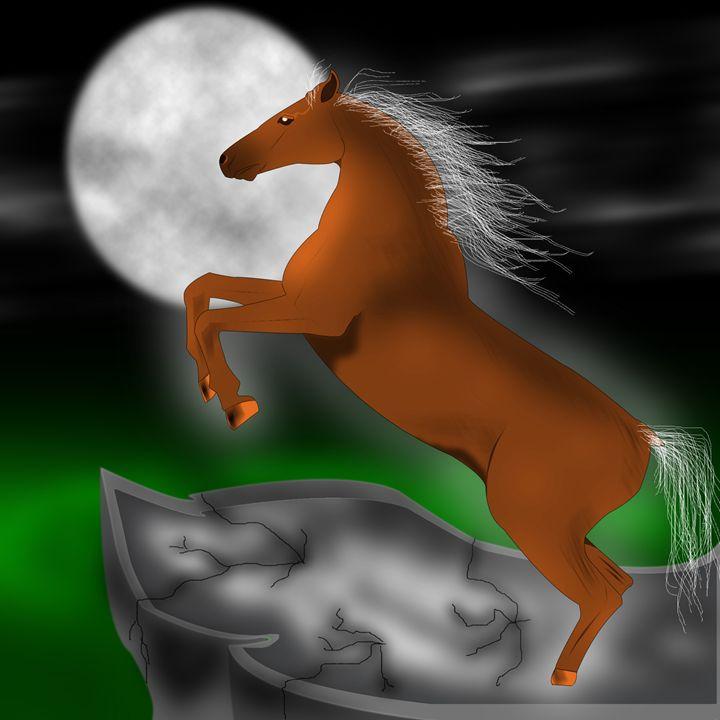 Horse and Moon - Joshua C Kurz