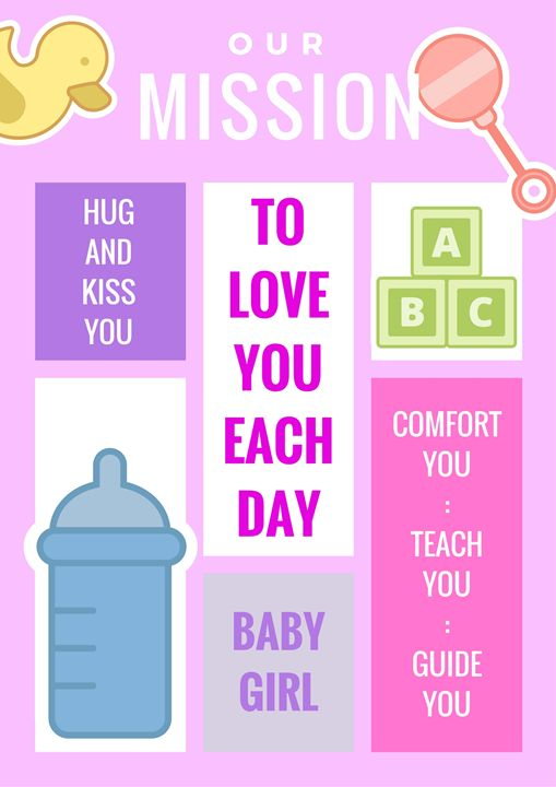 Baby Girl - Our Mission Statement - RositaArt