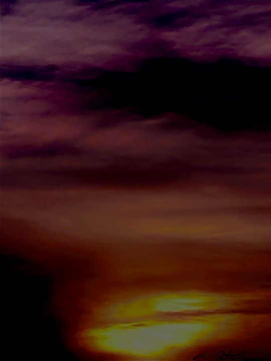 "Purple sunset - Alien artwork ""by, R.C."