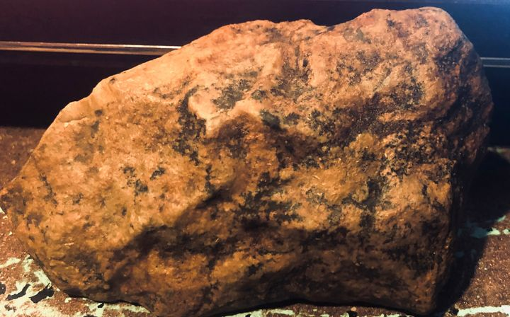 "Ancient stone art - Alien artwork ""by, R.C."