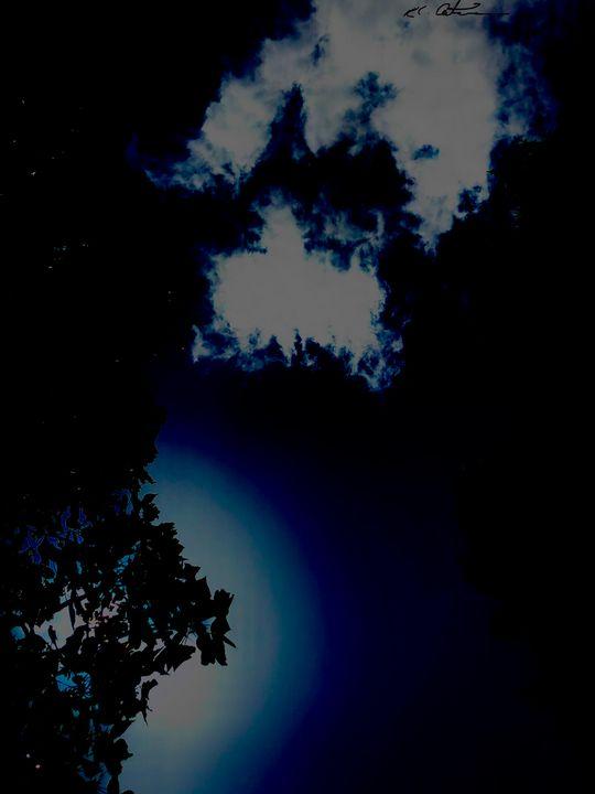 """Blue sky - Alien artwork """"by, R.C."""