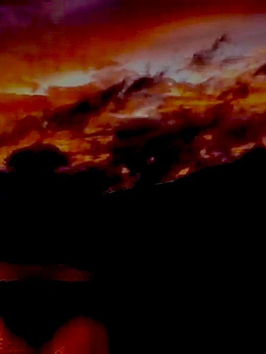 """Fire in the sky - Alien artwork """"by, R.C."""