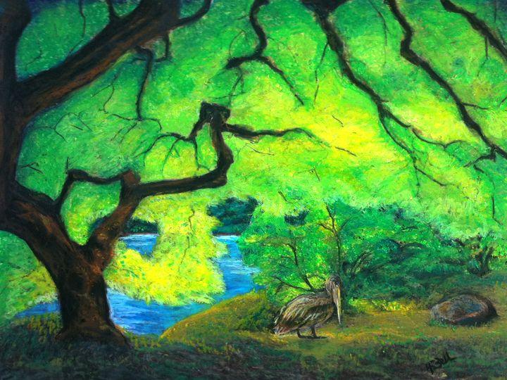 Louisiana Brown Pelican - HEBell Artwork