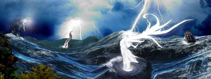 Storms At Sea - HEBell Artwork