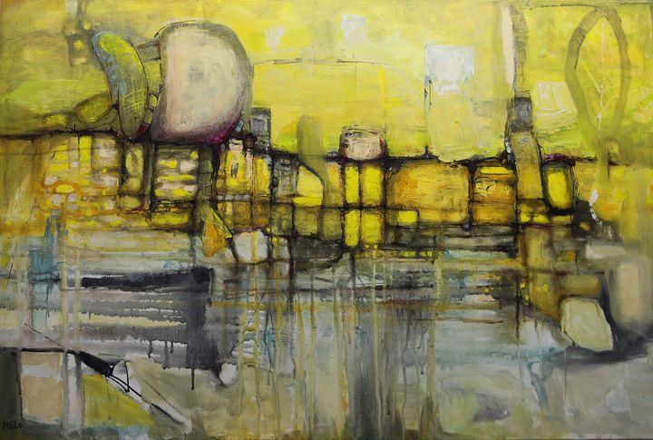 PICKLE FARM 36x24 acrylic on canvas - Milo Fine Art