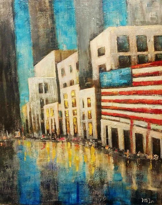 Flag City - Milo Fine Art
