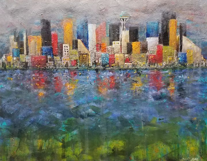 Stormy Seattle - Milo Fine Art