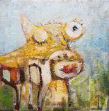 Happy Cow 12x12 Acrylic