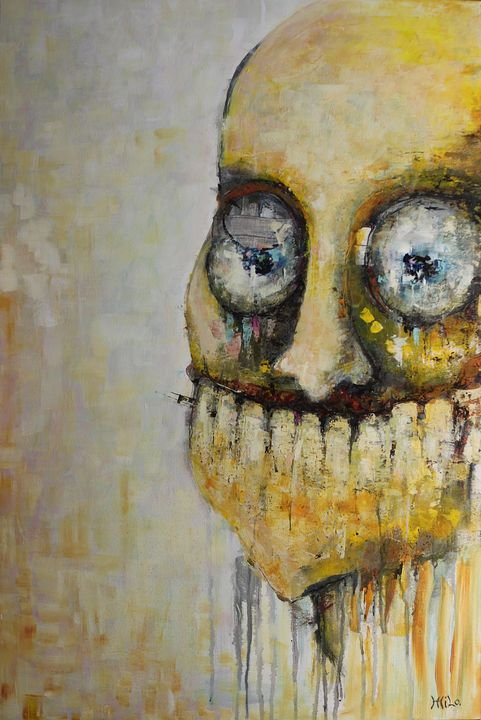 "INSANITY acrylic on canvas 24"" x 36"" - Milo Fine Art"